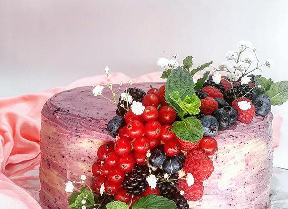 Berries & Madagascan Vanilla Cake