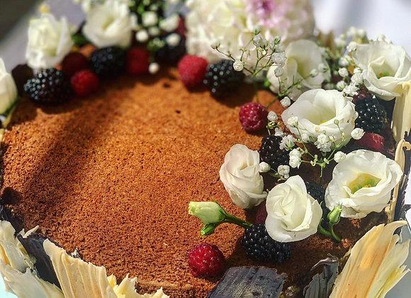 DARK CHOCOLATE NOCCIOLA & WILD BERRIES CAKE