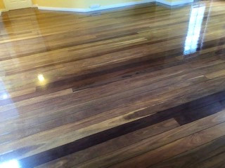 shiny timber floor. Prowse's Painting