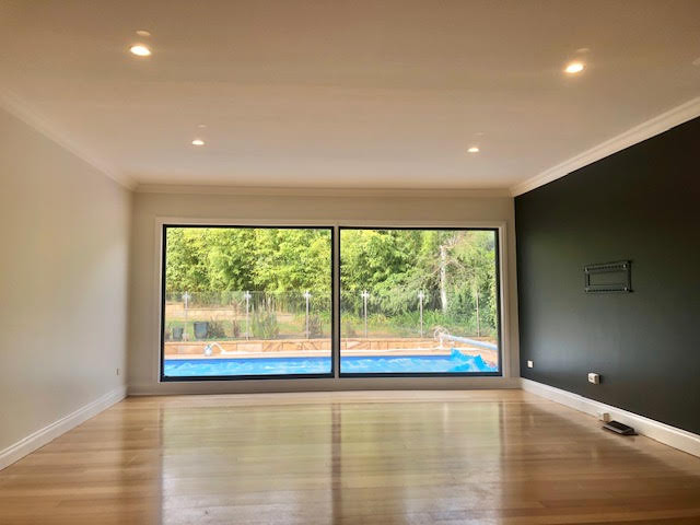 painted dining room, timber floors, canb