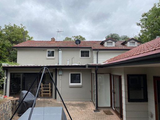 House after render being applied Canberr