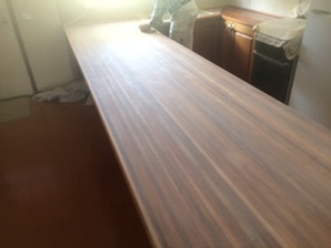 before photo of canberra timber bench top.