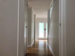 White painted hallway, canberra painters