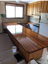 after photo of canberra timber benchtop