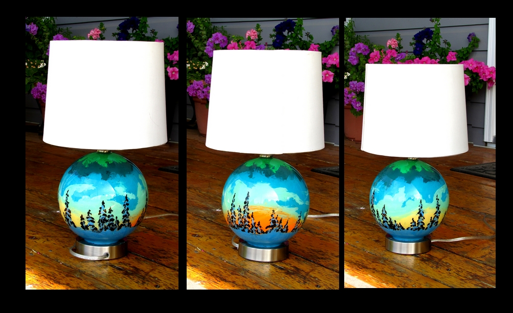 spherescape lamp   SOLD