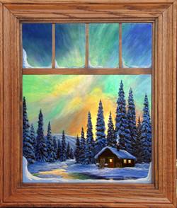 A Spectacular Night window Framed