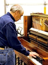 Ke Farrar Tuning a Piano