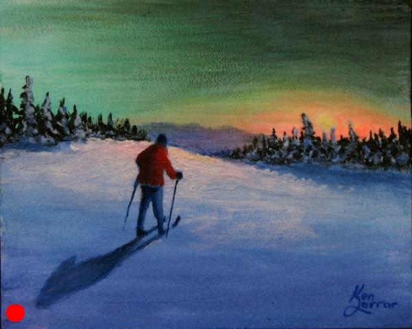 Auroral Sunset