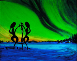 United In Celebration - a commissioned painting in the dark