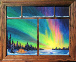 A Magical Sight with window frame