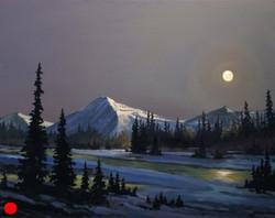Rocky Mountain Moon Rise 24x30