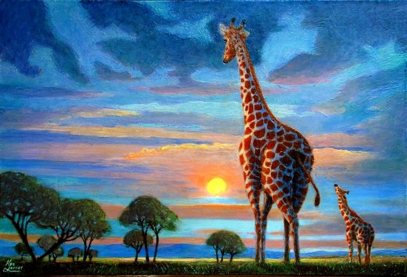 Savanna Sunrise-Savannah Sunset 24x36