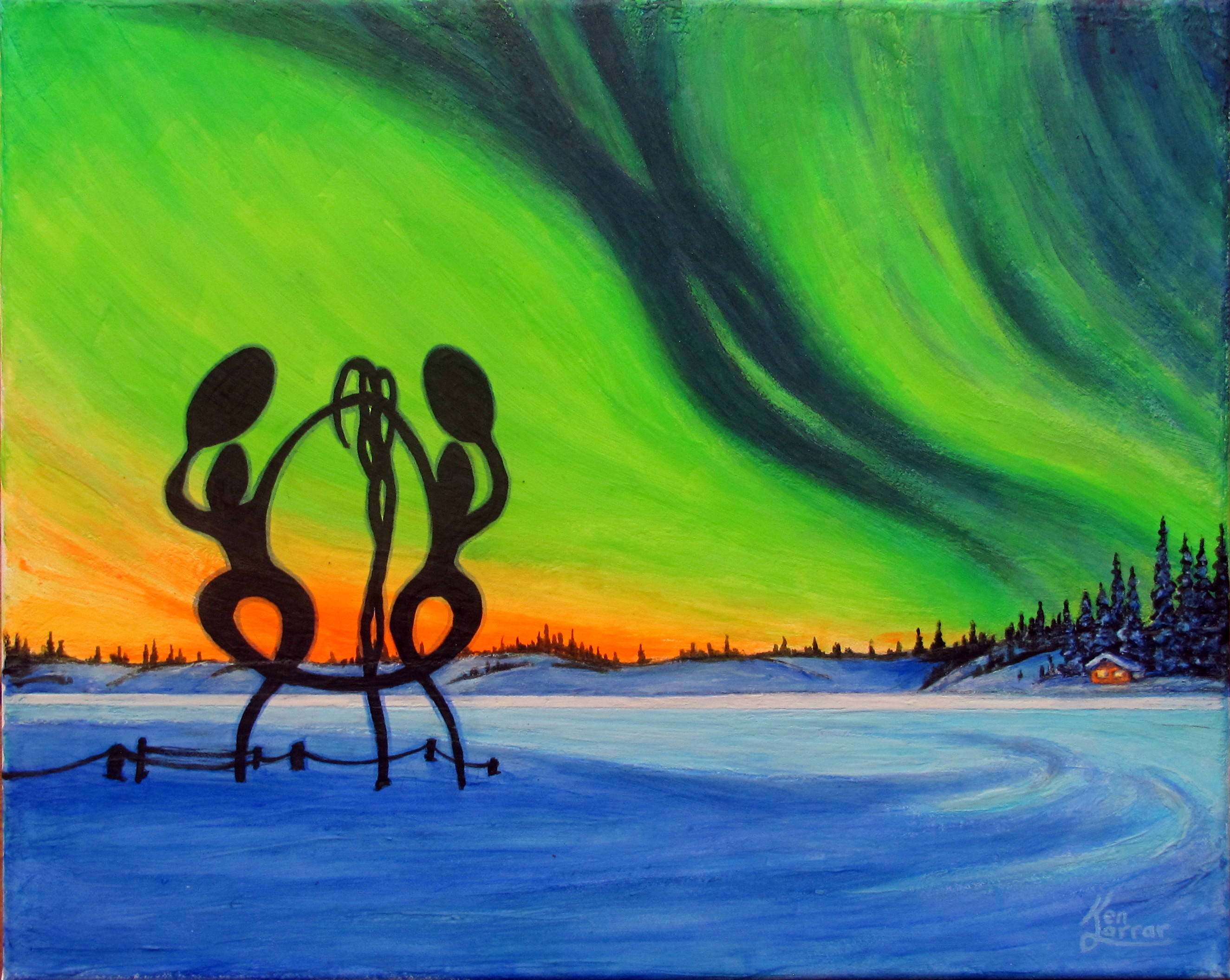 United In Celebration - a commissioned painting Yellowknife NWT