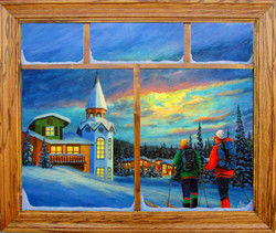 Crystal Forest Sun Peaks with window frame and glass