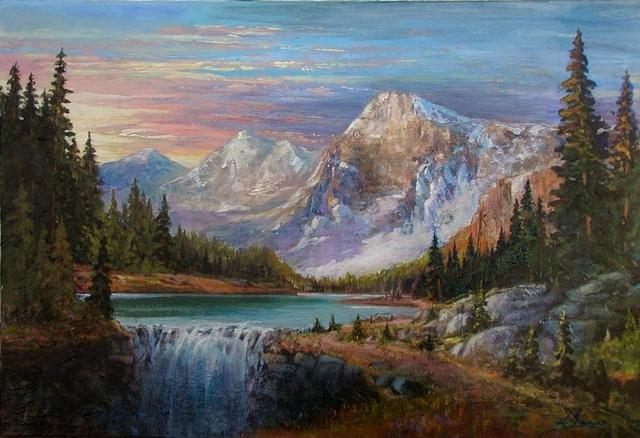 rocky mountain sun set