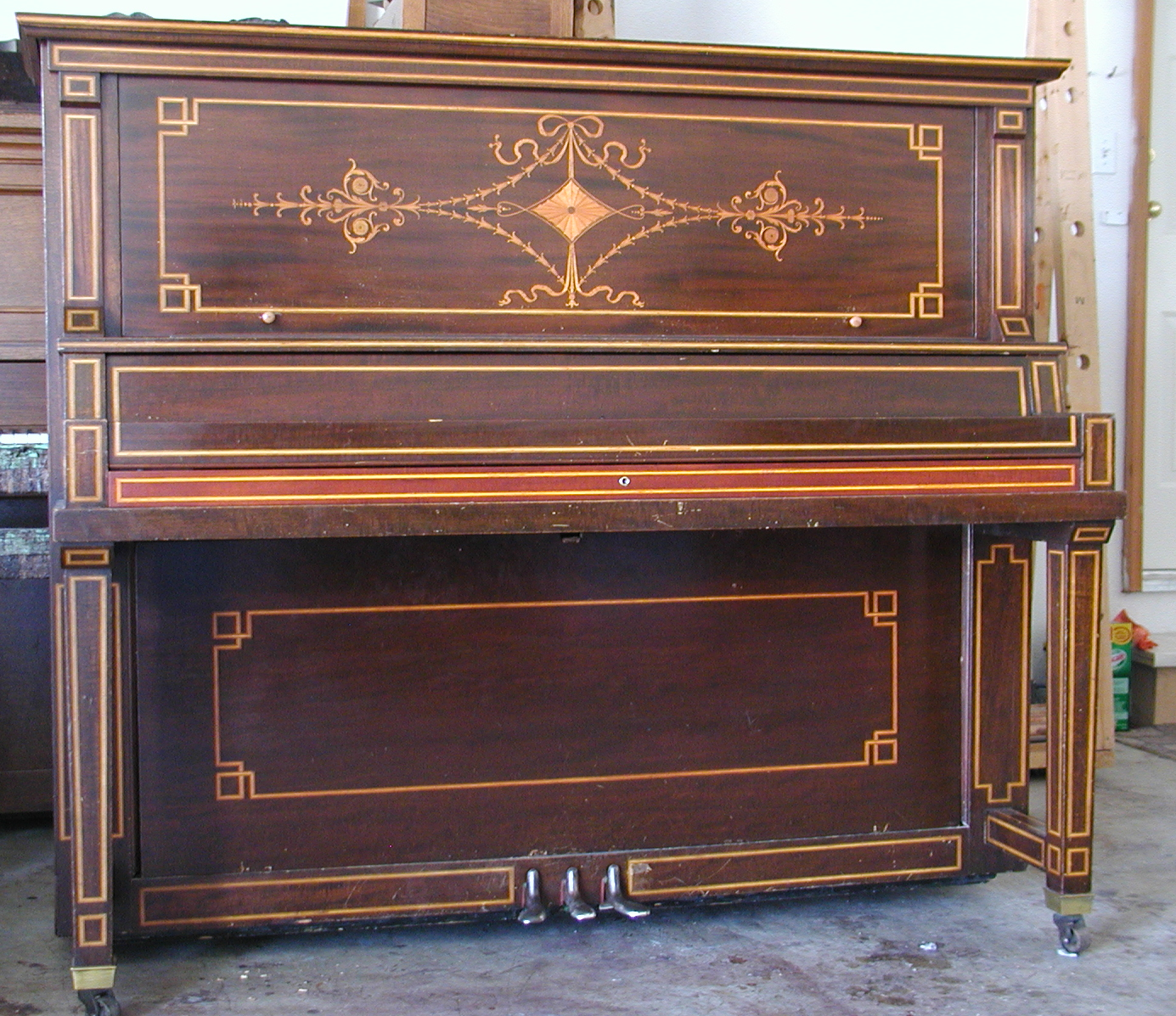 Williams Piano before restoration