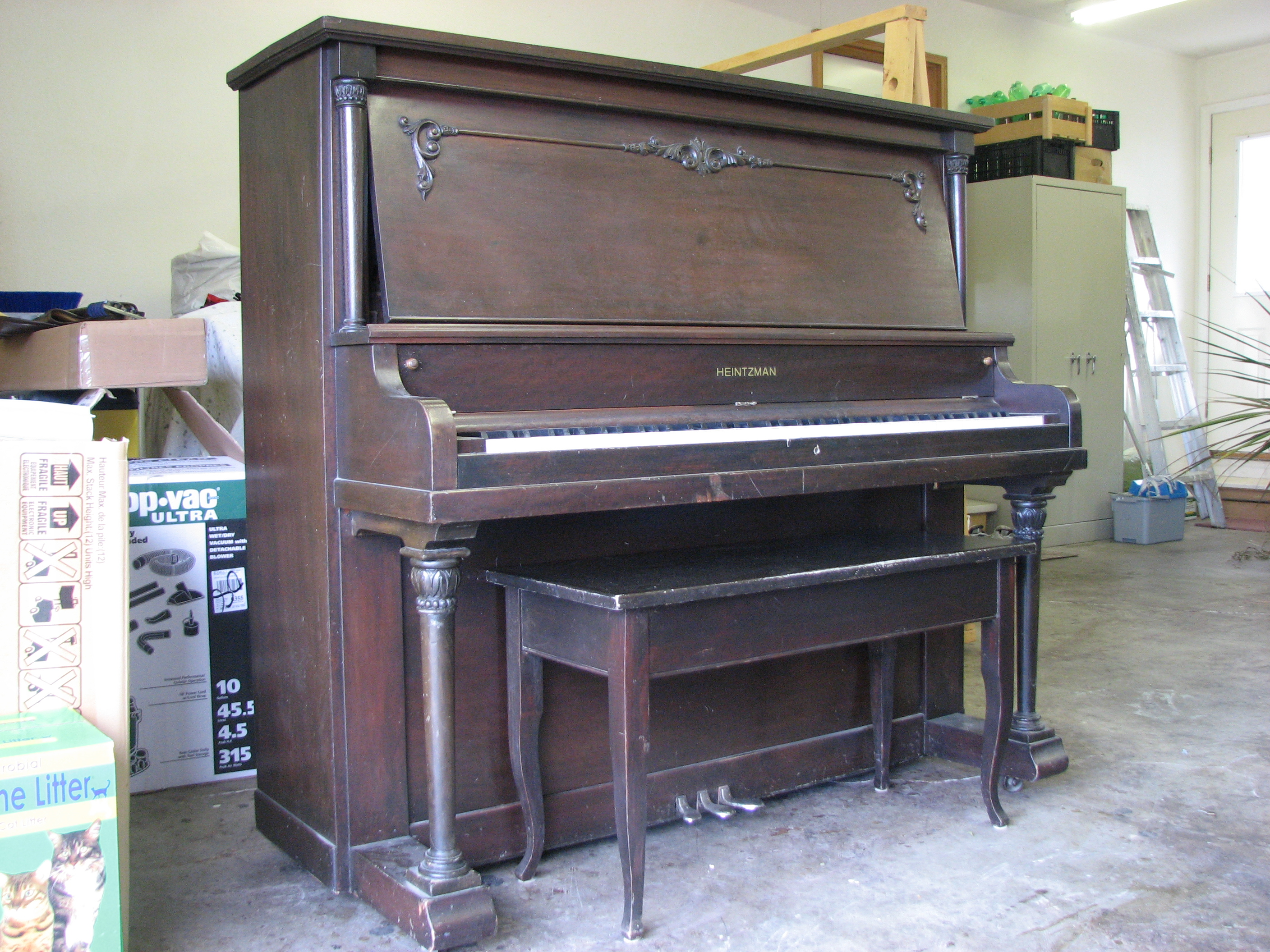 Heintzman before restoration