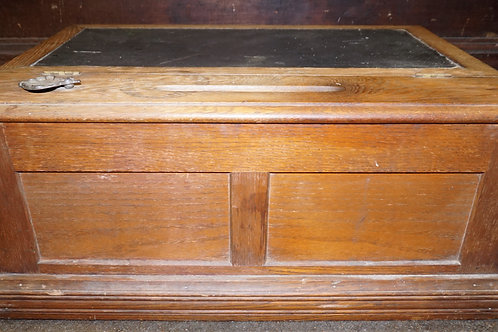 Ca 1880s Oak Countertop Spool Cabinet