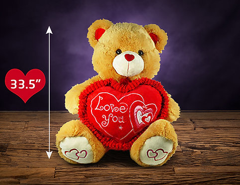 33.5″ BROWN TEDDY BEAR