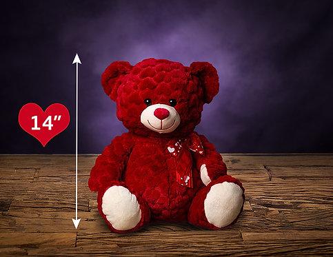 14″ RED TEDDY BEAR