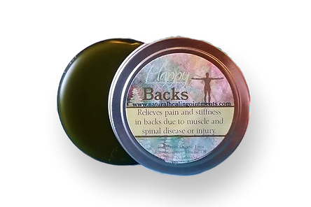 happy backs, comfrey salve