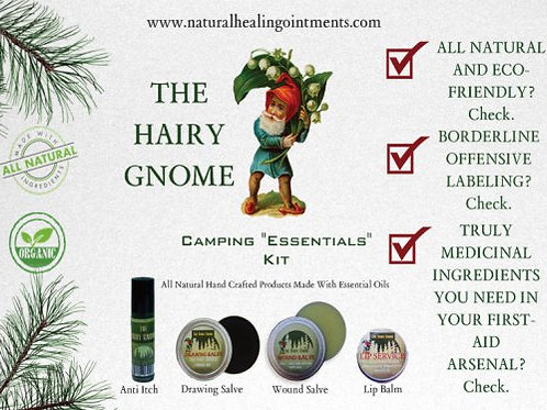 The Hairy Gnome-4pc. Gift Set. Organic, Eco-Friendly Medicinal Hikers' Salves