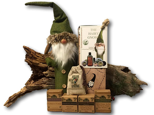 THE HAIRY GNOME- Complete 11 Pc. Handcrafted Medicinal Hiker's Set.