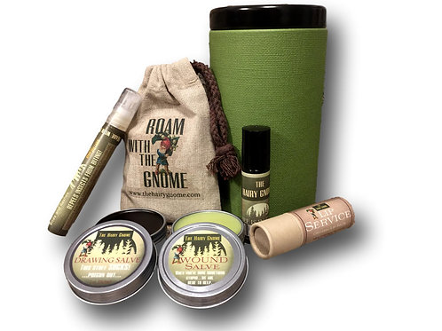 THE HAIRY GNOME- 6 Pc. Handcrafted Medicinal Hiker's Set.