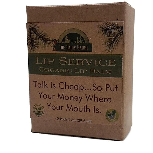 Lip Service: (2 pk.) Organic Lip Balm. Talk Is Cheap.
