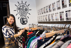 Woman shopping at The Shift Chicago