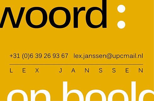 visitekaartje Lex Janssen Woord en Beeld