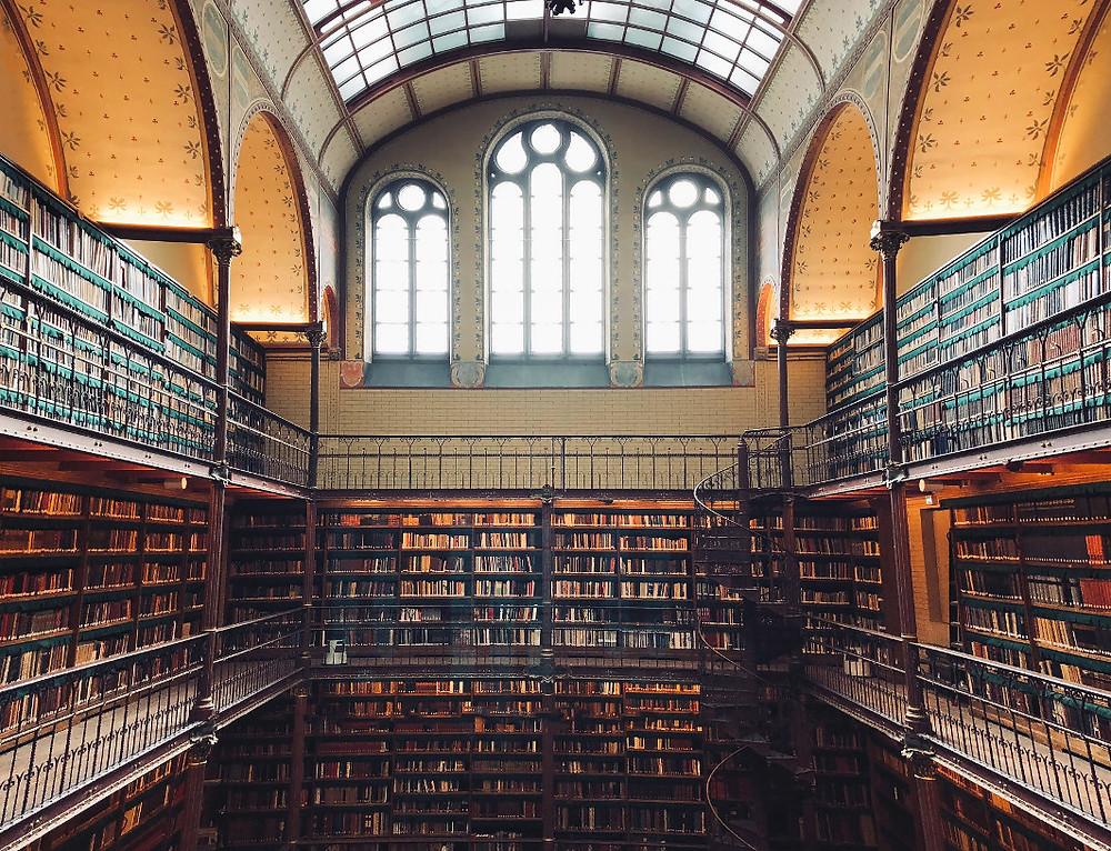 Bibliotheek, bron van kennis.