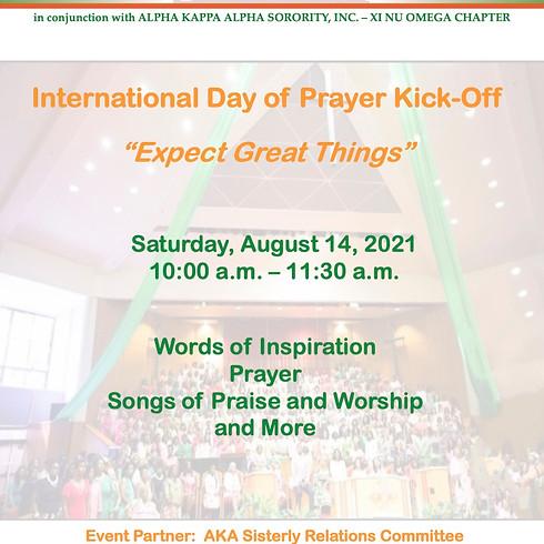 International Day of Prayer - Kick Off