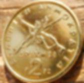 2 Драхмы, 1982 года, Греция, Монета, Монеты, 2 Драхмес, 2 Drachmas 1982,Greece, Guns,Ружьяна монете,Георгиос Караискакисна монете.