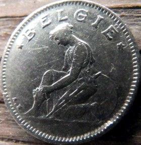 50 Сантимов, 1923 года, Королевство Бельгия, Монета, Монеты, 25 Centimes 1923, Belgium,Belgie, Goed Voor, Воїн,Воин на монете.