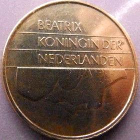 5 Центов, 1985 года, Нидерланды, Монета, Монеты, 5Сents 1985, NEDERLAND,Королева Беатриксна монете.