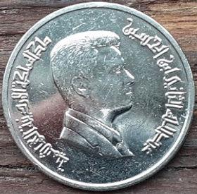 5 Пиастров, 2009 года, Иордания, Монета, Монеты, 5 Five Piastres 2009, The Hashemite Kingdom of Jordan,Abdullah II bin Hussein, Абдалла ибн Хусейн на монете.