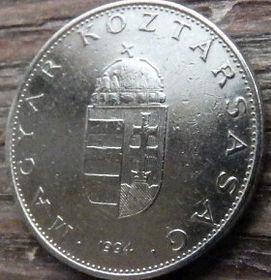 10 Форинтов, 1994 года,Венгрия, Монета, Монеты,10 Forint 1994,Hungary, Угорщина, Magyar,Crown, Корона, Coat of arms,Герб на монете.