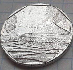 1 Песо, 1994 года, Куба, Монета, Монеты, 1 Un Peso 1994, Republica De Cuba,Guama,Гуама на монете, Coat of arms of Cuba, Герб Кубы на монете.