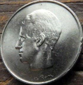 10 Франков, 1972 года, Королевство Бельгия, Монета, Монеты, 10 Francs1972, Belgium, Belgique, Belgie,Балдахін, Canopy,Балдахин на монете,Корона, Crown,Фауна, Лев, Lion, КорольБодуенIна монете.
