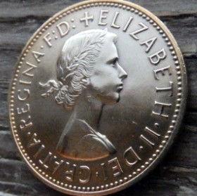 1 Пенни, 1967 года,Великобритания, Монета, Монеты, One Penny 1967, Море, Sea,Lighthouse, Маяк, Жінка воїн,Woman warrior, Женщина воин на монете, Королева Elizabeth II, Елизавета IIна монете, Первый портрет королевы.