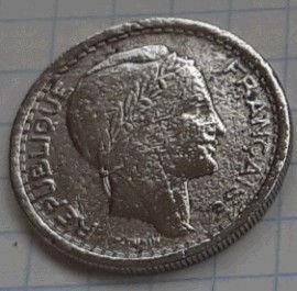 20 Франков, 1949 года, Алжир,Монета, Монеты, 20 Francs 1949,Algerie,Algeria,Spikelets, Колоскина монете,Жінка,Woman, Женщина на монете.