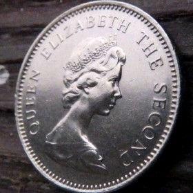 5 Пенсов, 1968 года, Джерси, Монета, Монеты, 5 FiveNew Pence 1968, Jersey,Coat of Arms,Герб,Fauna, Фауна,Lions, Львы на монете,Королева Elizabeth II, Елизавета IIна монете, Второй портрет королевы.