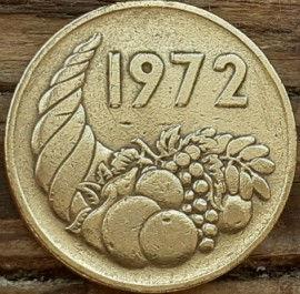 20 Сантимов, 1972 года, Алжир,Монета, Монеты, 20 Centimes1972,Algeria, Ріг достатку, Cornucopia, Рог изобилия на монете.