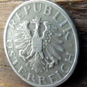 10 Грошей,1947 года,Австрия,Монета, Монети,Osterreich, 10 groschen1947, Austria,Австрія, Герб, Орел, Рослинний орнамент,растительный орнамент,floral ornament.