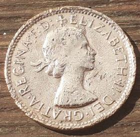 1/2 Пенни, 1961 года,Австралия, Монета, Монеты, HalfPenny 1961, Australia,Kangaroo,Кенгуру на монете, Королева Elizabeth II, Елизавета IIна монете, Первый портрет королевы.