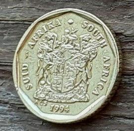 10 Центов, 1994 года, ЮАР,Монета, Монеты, 10 Cents1994,South Africa,Suid-Afrika,Флора,Квітка, Flora, Flower, Флора, Цветок на монете, Coat of arms of South Africa, ГербЮАРна монете.