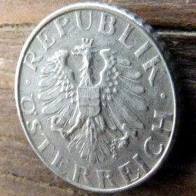 5 Грошей,1953 года,Австрия,Монета, Монети,Osterreich, 5 groschen1953, Austria,Австрія, Герб, Орел, Рослинний орнамент,растительный орнамент,floral ornament