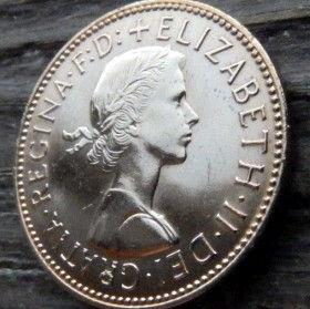 1/2, Пол Пенни, 1967 года,Великобритания, Монета, Монеты, Half Penny 1967, Море, Sea, Ship,Корабль на монете,Королева Elizabeth II, Елизавета IIна монете, Первый портрет королевы.