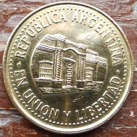 50 Сентаво, 2010 года, Аргентина, Монета, Монеты, 50 Centavos 2010, Republica Argentina, Будівля,Building, Зданиена монете.